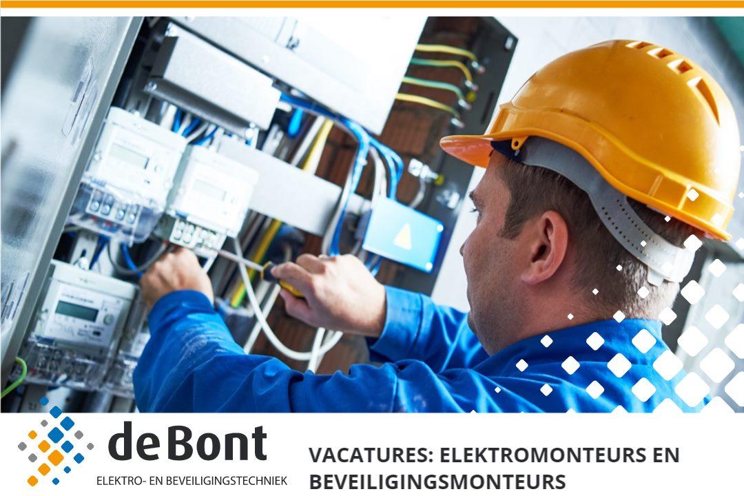 Gezocht voor onze vestiging in Tilburg: Elektro- en beveiligingsmonteurs!