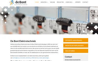 Nieuwe website De Bont Elektrotechniek gelanceerd
